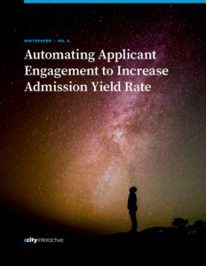 Automating Applicant Engagement to Increase Admission Yield Rate