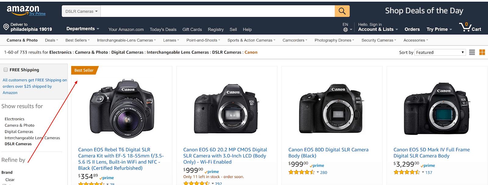 best selling dslr cameras
