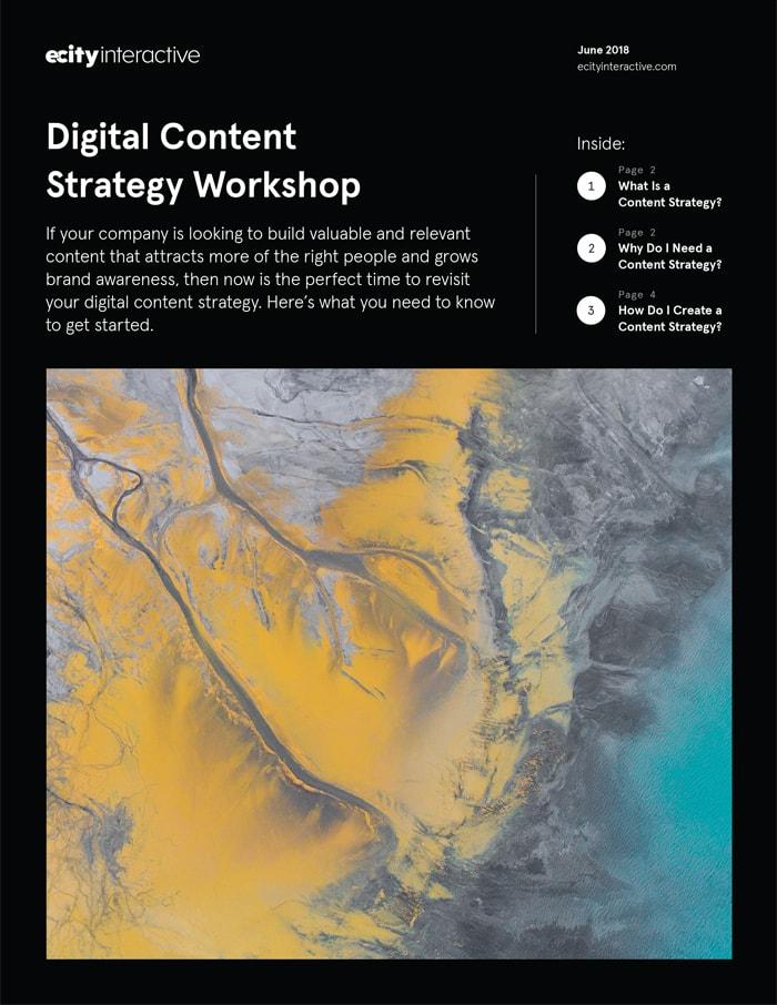 Digital Content Strategy Workshop