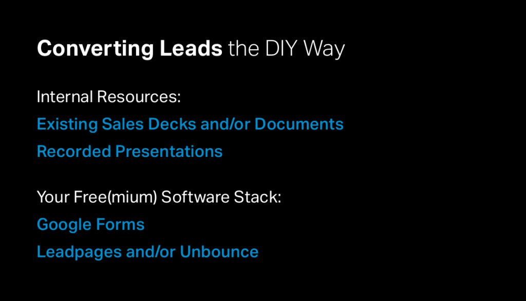 Converting Leads the DIY Way