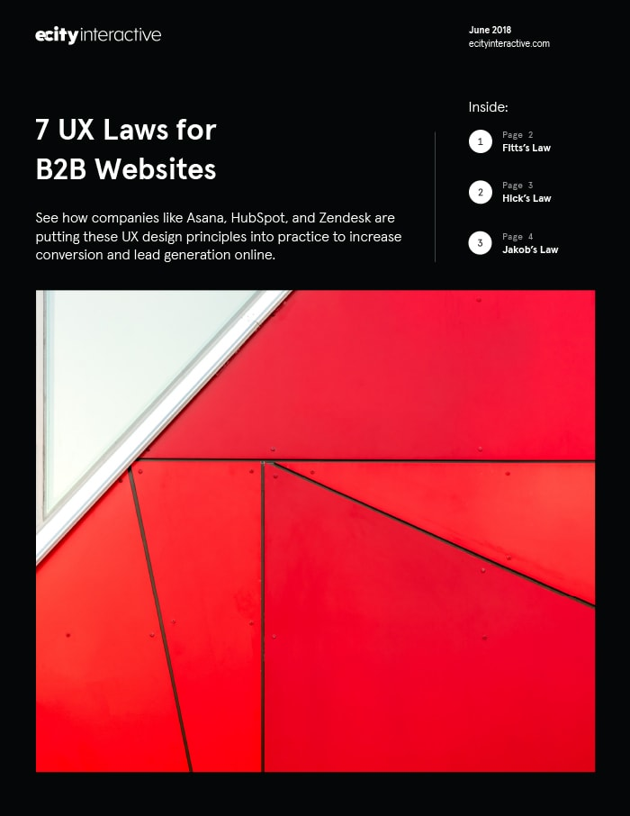 7 UX Laws for B2B Websites