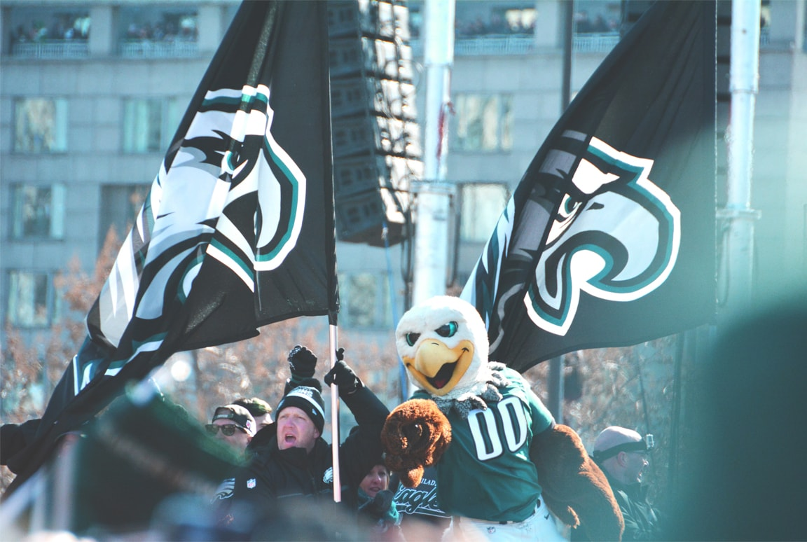 Philadelphia Eagles Mascot in the Parade