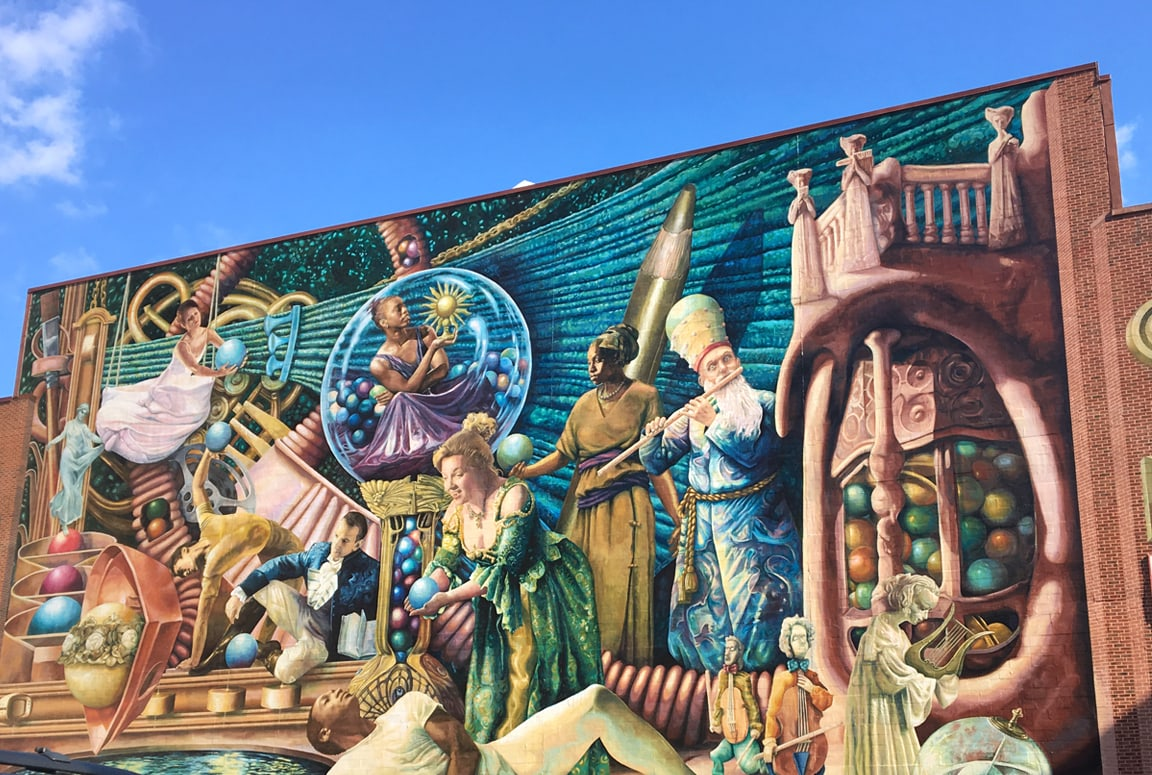 A beautiful mural that is part of Mural Arts Fest in Philadelphia