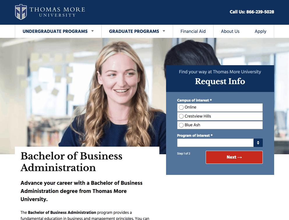 Thomas More University's RFI form
