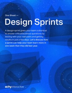 Design Sprints One Sheet