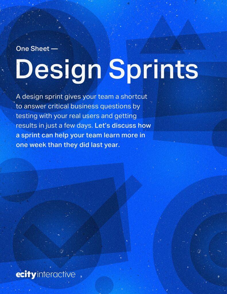 Design Sprints One Sheet
